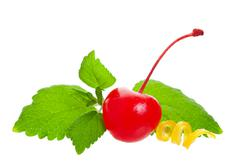 cherry garnish - stock photo