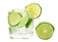 Mojito and lime Stock Photos