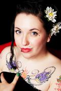 sweet rockabilly portrait - stock photo