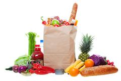 Stock Photo of lots of groceries