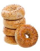 Multi-grain bagels Stock Photos
