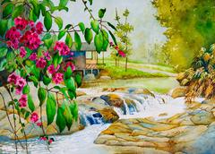 thailand spring - stock illustration