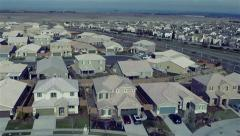 Flight over the new homes Stock Footage