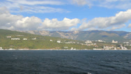Stock Video Footage of Ukraine 03 Crimean coast approaching resort of Yalta c
