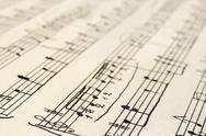 Retro music sheet Stock Photos