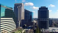 Flight over downtown Stock Footage