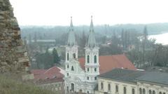 4K Esztergom Hungary 10 winter Stock Footage