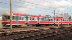 Local train in Poland. Stock Footage