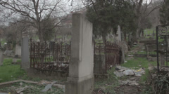 Old haunted cemetery [flycam] _11 Stock Footage
