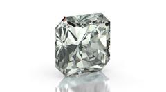 Radiant cut diamond Stock Footage
