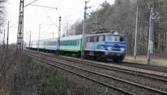 Express intercity train in Poland. Stock Footage