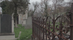 Old haunted cemetery [flycam] _10 Stock Footage