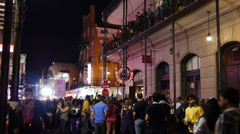 Mardi Gras Bourbon Street at Night 4047 Stock Footage