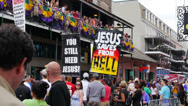 Stock Video Footage of Bourbon Street Gay Protesters 4046
