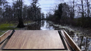 Stock Video Footage of Swampland Airboat Passenger POV 4037