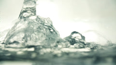 Water Shapes in White Background - stock footage