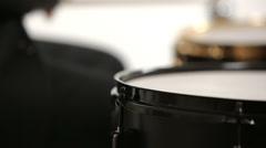 tuxedo drummer tilt up isolated - stock footage