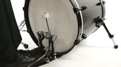 Bass drum isolated Stock Footage