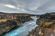 Stock Photo of hraunfossar waterfall, northwest iceland
