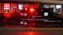 Ambulance Backing Up Stock Footage