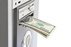 Money and computer - stock photo