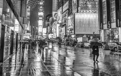 New york city - 16 kesäkuu: kertaa square, esillä Broadwayn teatterit ja ani Kuvituskuvat