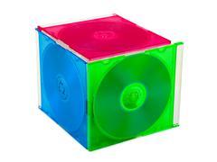 Cube teki tietokoneen levyjä Kuvituskuvat