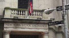Stock Video Footage of Wall Street New York Stock Exchange