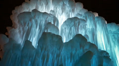 Frozen ice castle walls Stock Footage