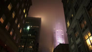 Stock Video Footage of Rockefeller Center in the mist