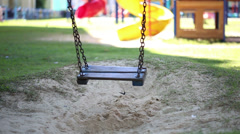 Solitary Swing In The Park Stock Footage