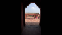 Tourist at A Mogul historical monument, Fatehpur Sikri Stock Footage