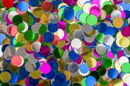 Stock Photo of small color confetti background