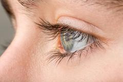 Teenager eye macro Stock Photos