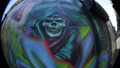 Xmen graffiti crew Stock Footage