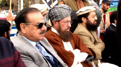 Founders of the Taliban at an Extremist Rally in Islamabad Pakistan Stock Footage