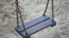 Empty Swing Set - stock footage
