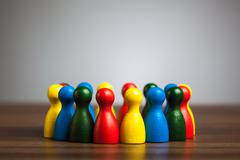 Group, circle of friends, diversity, united concept Stock Photos