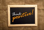Stock Illustration of think positive, motivational messsage
