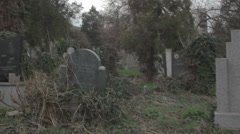 Old haunted cemetery [flycam] _5 Stock Footage