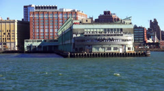 Marine and Aviation Pier 57 Manhattan - stock footage