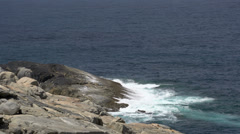 Coast near the blowholes in Albany, Western Australia Stock Footage