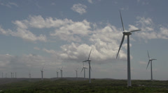 Close up from the Wind farm at Albany, Western Australia Stock Footage