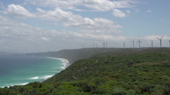 Wind farm at Albany, Western Australia Stock Footage