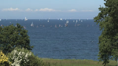 Sailing Boats Timelapse Kiel Week - Baltic Sea Stock Footage