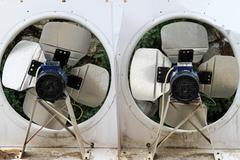 double industrial fan - stock photo