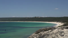 Pan from Yallingup Beach in Margaret River, Western Australia Stock Footage