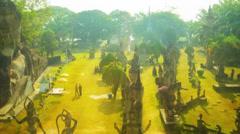 Sculpture buddha park (xieng khuan) Stock Footage
