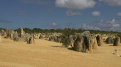 Pan of The Pinnacles in Western Australia Stock Footage