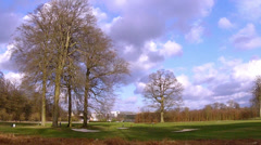 Golf club in Brussels in the winter. Stock Footage
